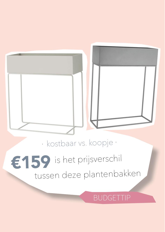 Kostbaar vs. koopje: look-a-like Ferm Living plant box