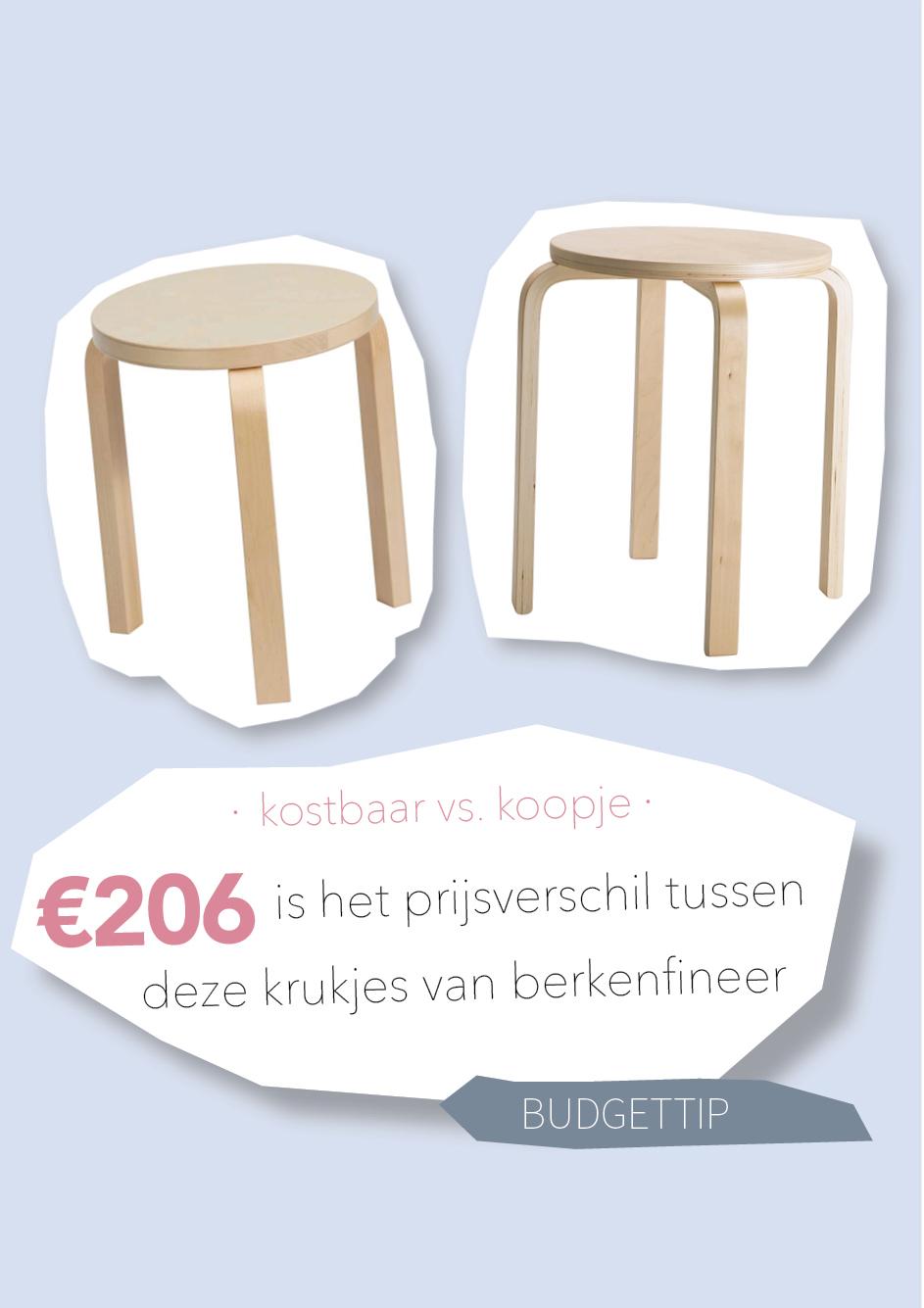 Kostbaar vs. koopje: het verschil tussen deze krukjes is €206
