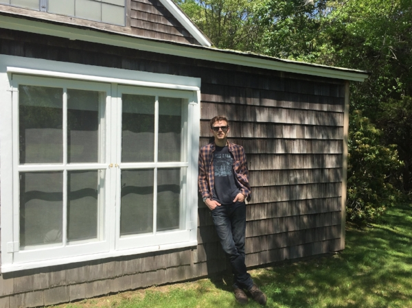 Leaning against Jackson Pollock's barn studio in East Hampton, NY. Photo by: Danielle Steensen