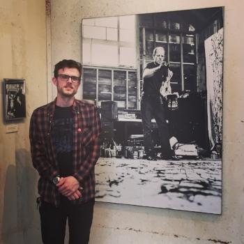 At Pollock's studio, spring 2017.