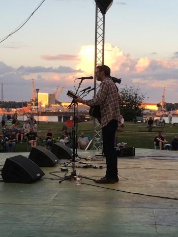 At Prescott Park in Portsmouth, opening for James McMurtry. September 2016. Photo by:Christian Hulseman
