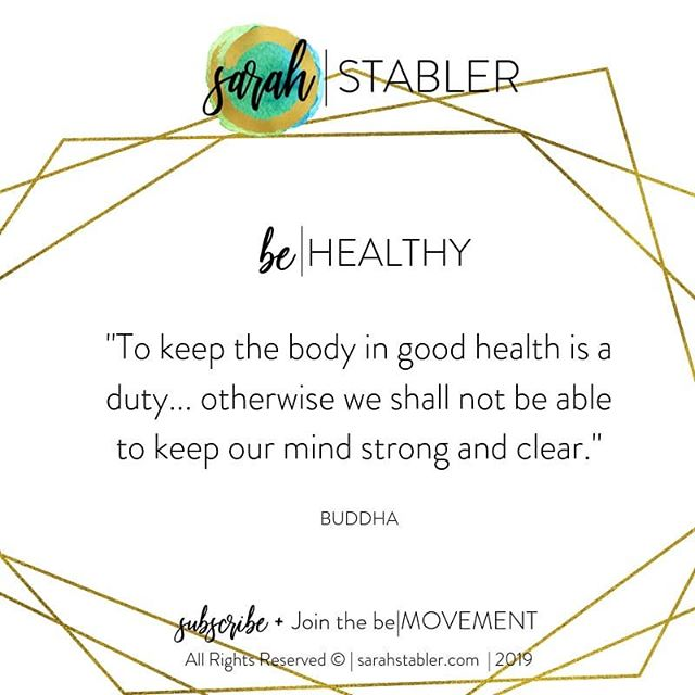 #behealthy #bemindful #belifestylemovement #sarahstablerlifestyle #bodyempowered
