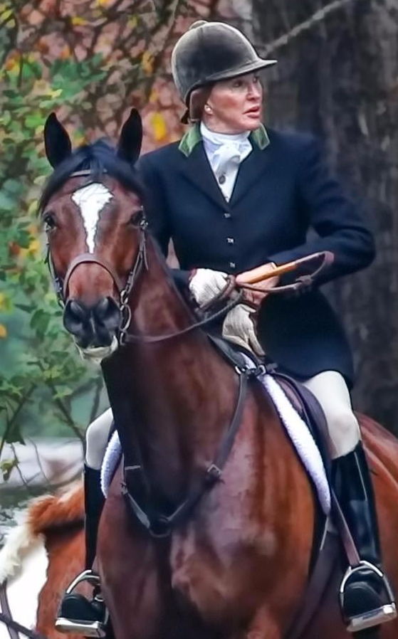 Martha Hall, EMO top producer, fox hunts and competes in the show ring.