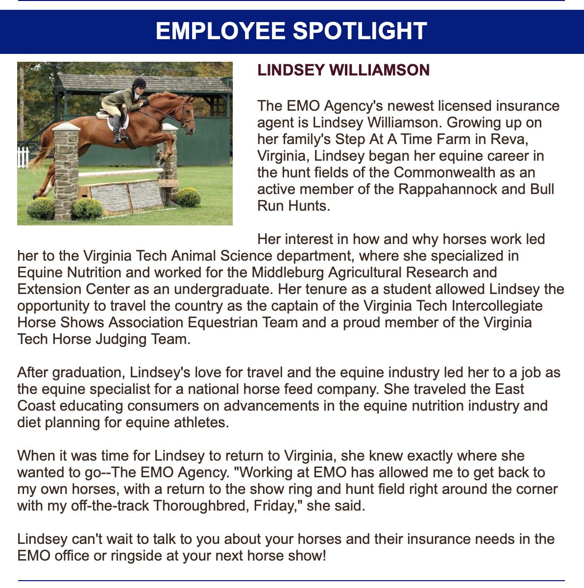 EMO Employee Spotlight — The EMO Agency Inc