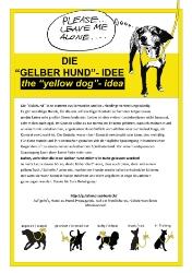 Aushang Gelber Hund