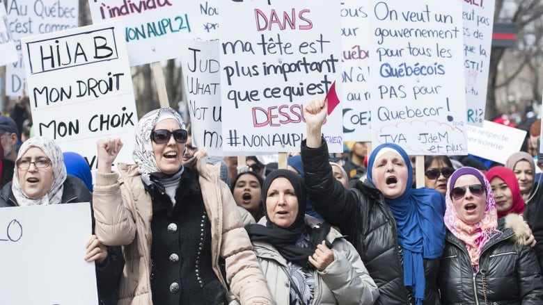 Credit: Graham Hughes/The Canadian Press.  From:  https://www.cbc.ca/news/canada/montreal/bill-21-protests-montreal-1.5088265