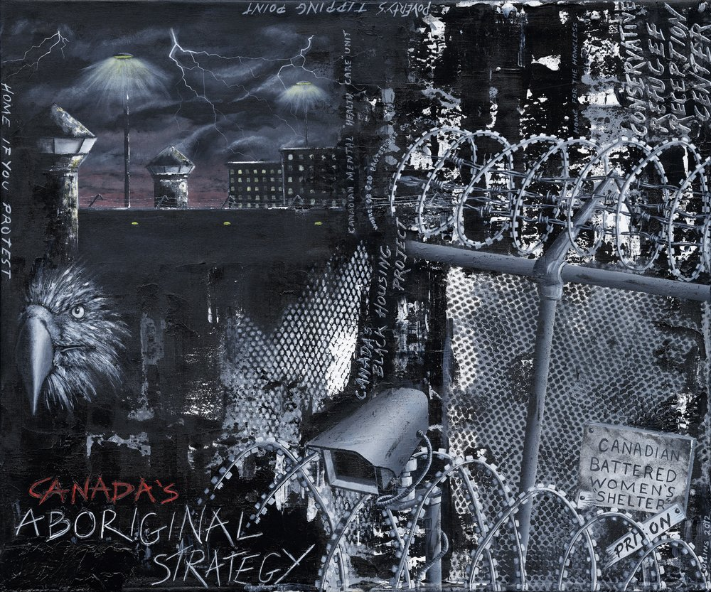 """Cover art for Volume 28(1) - """"The Canadian Carceral State"""" - by Peter Collins (2012)"""