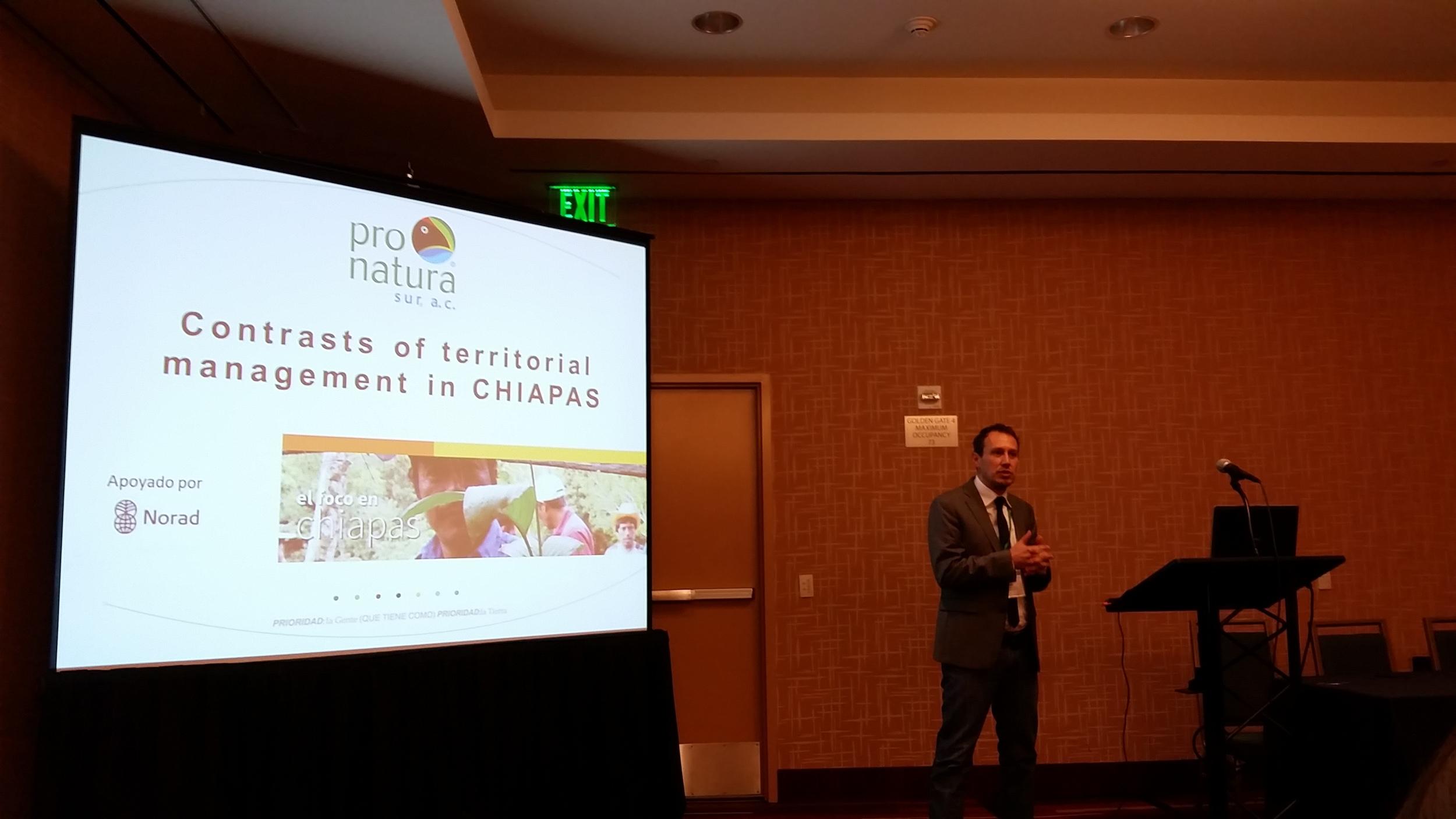 Pepe Montero (Pronatura Sur) discusses the progress made in Chiapas, Mexico on landscape sustainability