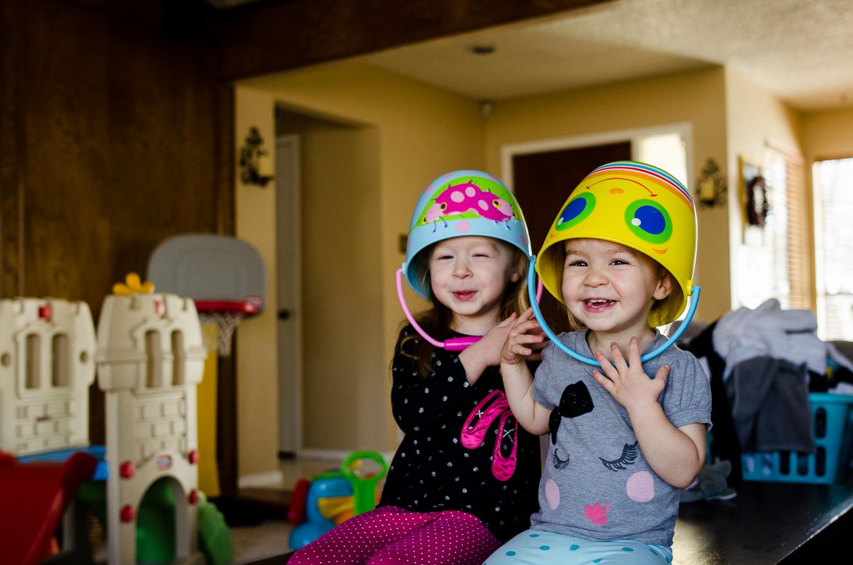 """I love to play bucket hats with Julia!  We're bucket people!"""