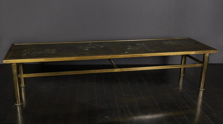 """Laverne Bronze Table  70"""" w. x 20"""" d. x 15"""" h.  $18,000"""