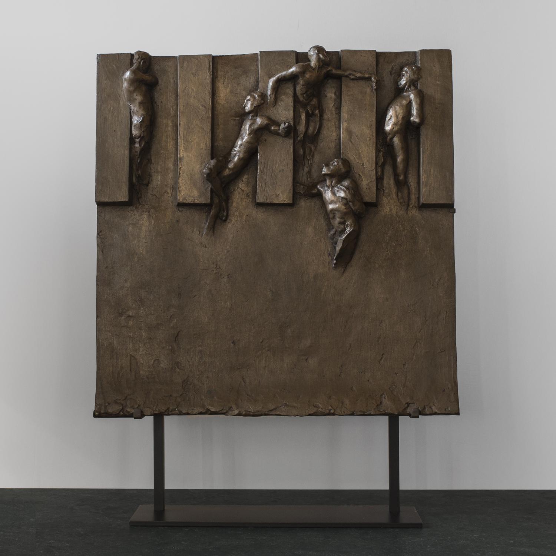 """Bronze Plaque  23"""" h. x 18"""" w. x 4"""" d.  $5,600"""