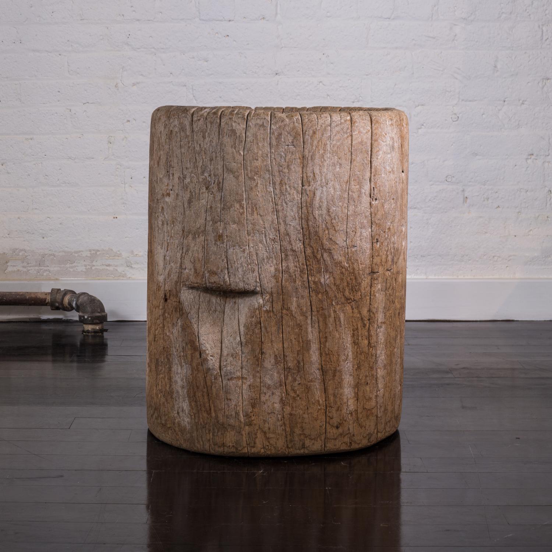 """Primitive Wood Mortar  21"""" h. x 17"""" dia.  $8,900"""