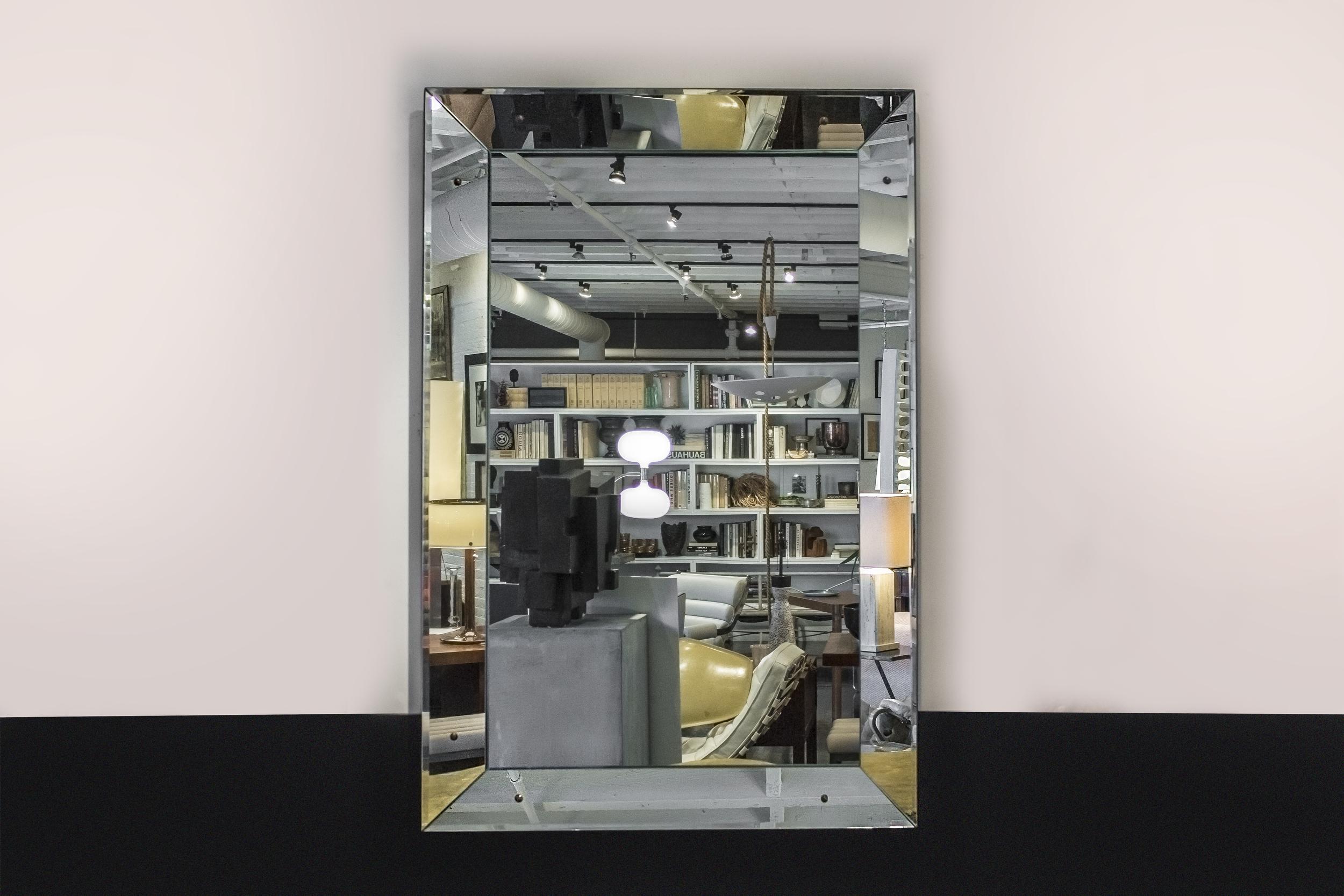 """French mirror  60"""" h. x 40"""" w. x 2"""" d.  $7,400"""