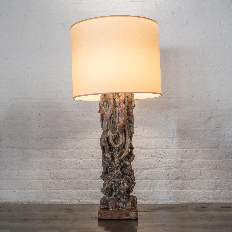 """James Mont lamp  40"""" h. x 9"""" dia.  $8,900"""
