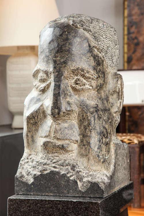 """""""Horace"""" Modernist Bust  25"""" h. x 14"""" d. x 12"""" w.  $18,000"""