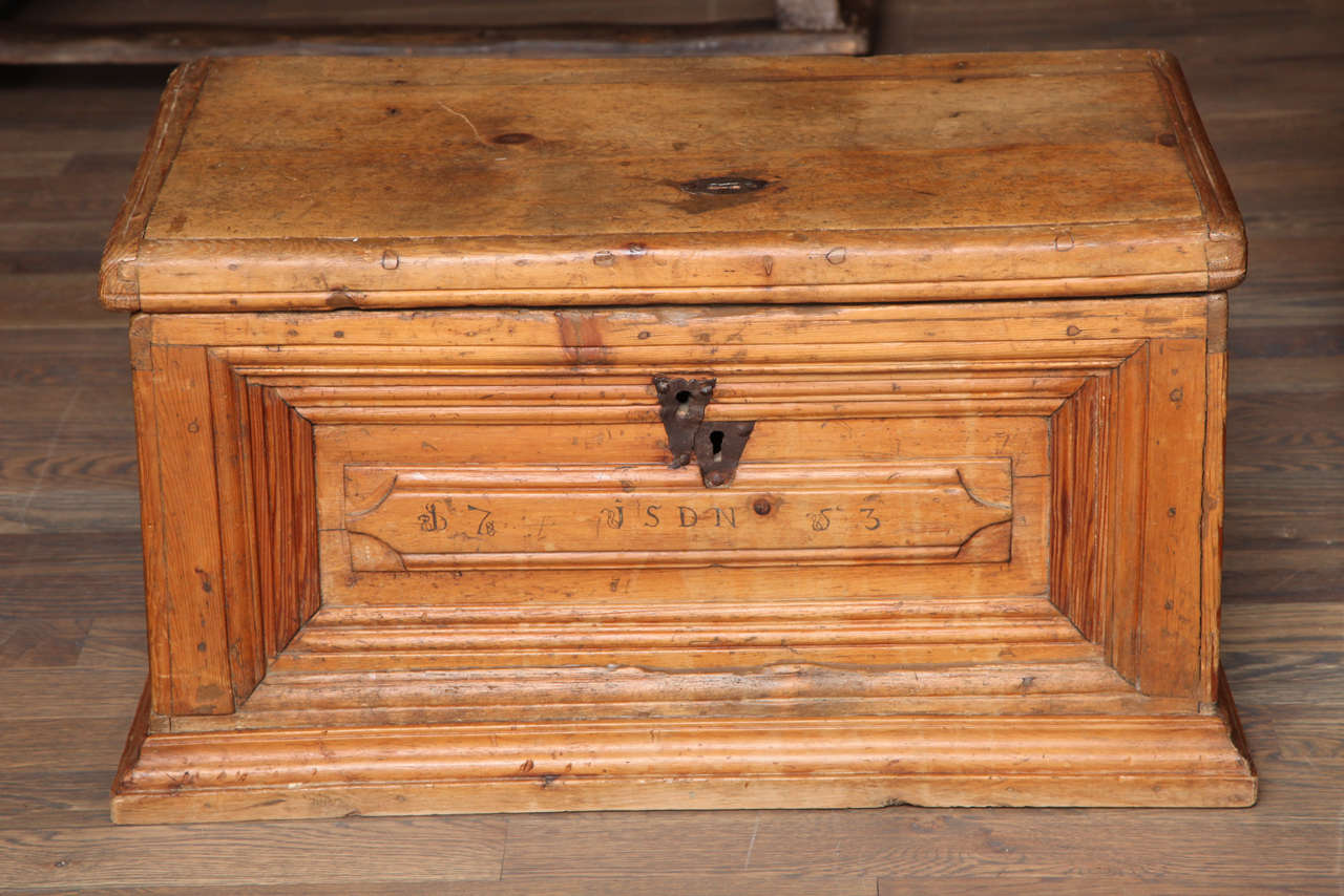 "18th Century Oak Chest  29"" w. x 16"" h. x 16"" d.  $4,800"