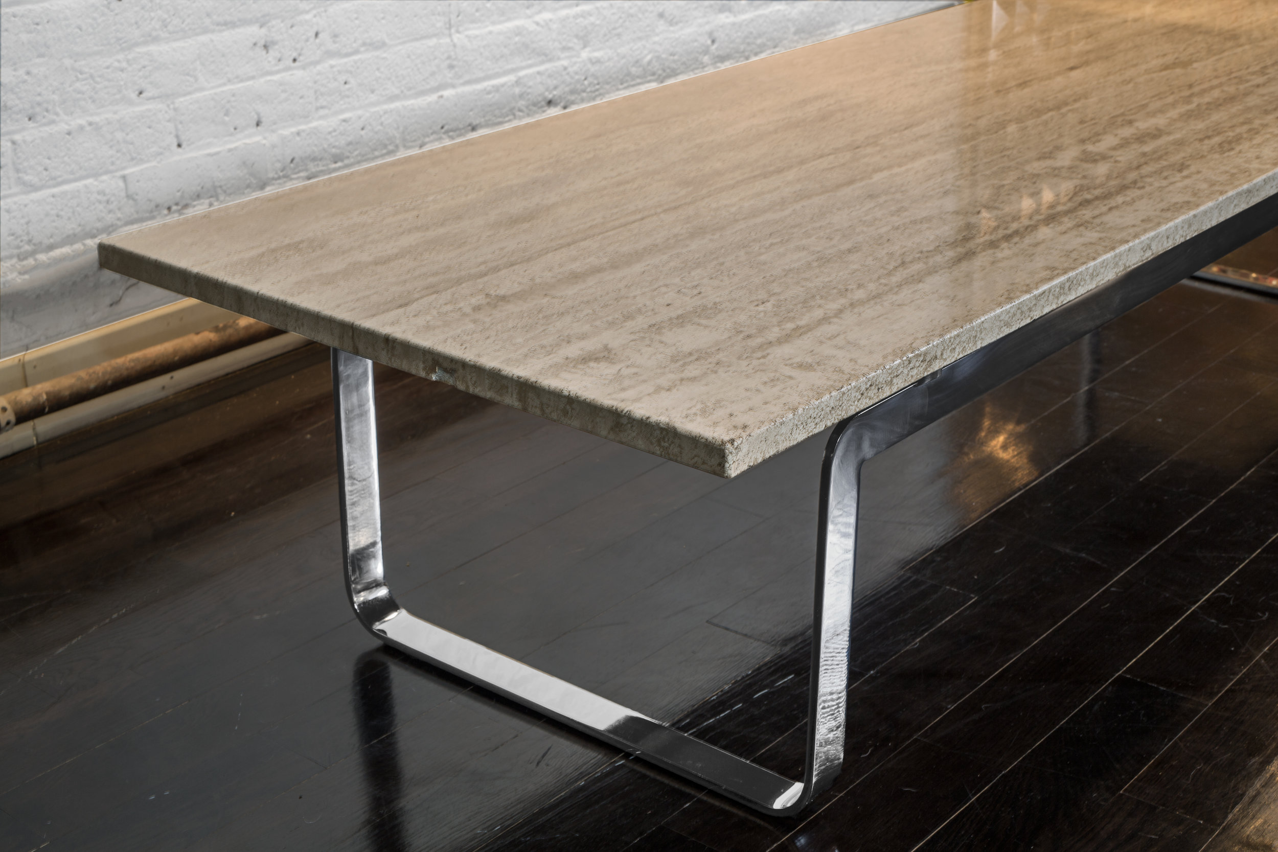 "Travertine Coffee Table  72"" w. x 24"" d. x 15"" h.  $8,900"