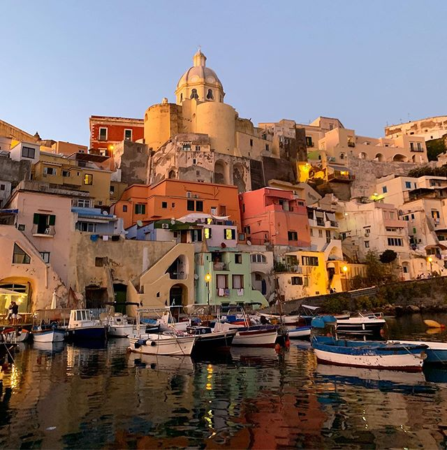 PROCIDA #italy a tiny #island off the coast of #naples - time stands still here in the most magical way. #color #light #sunset #summer #love