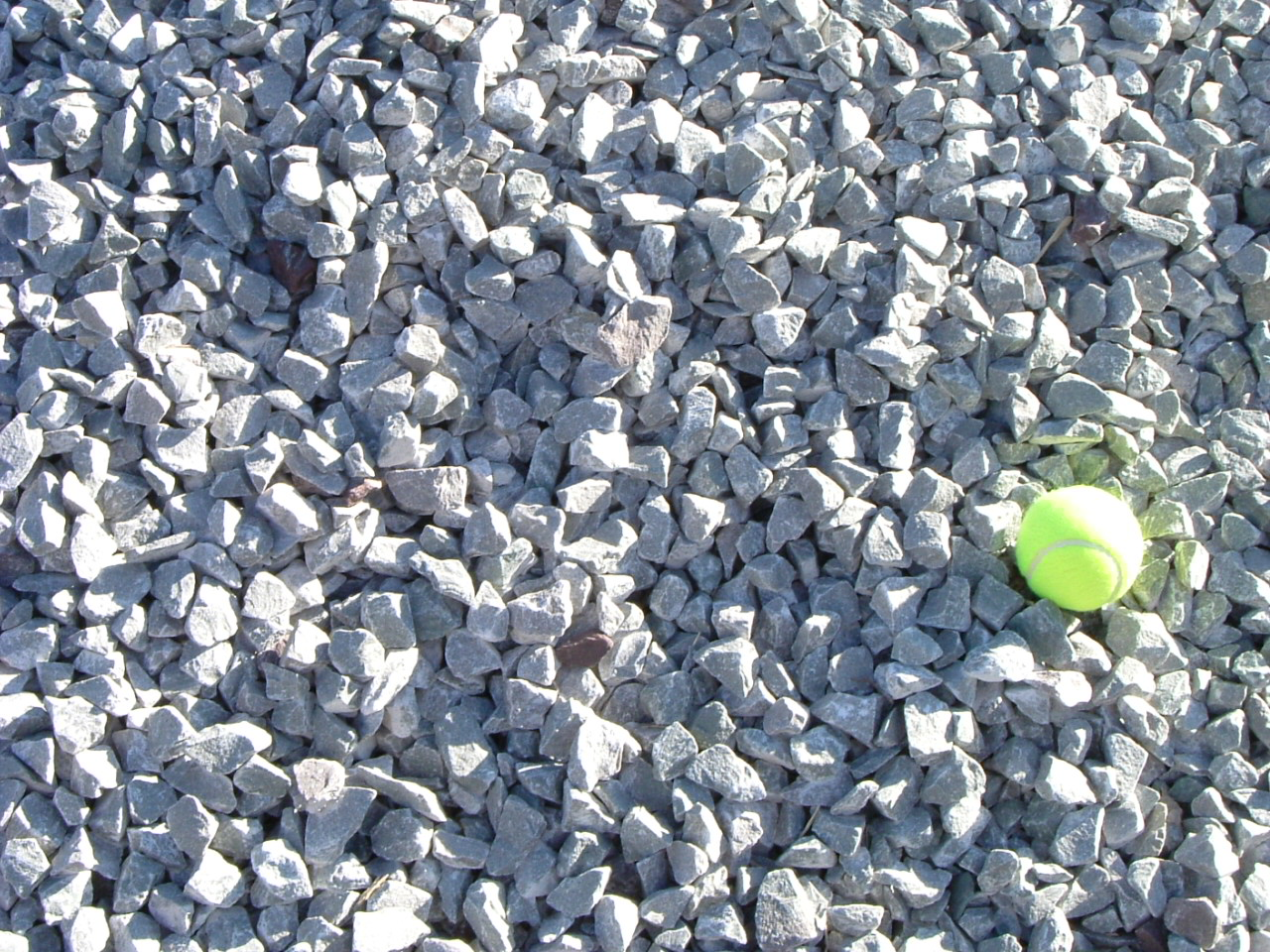 This picture is close up please use the tennis ball to gain perspective on stone size.