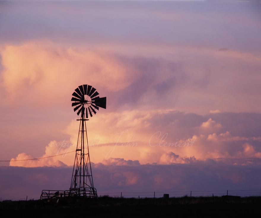 Windmill Sunset Idaho