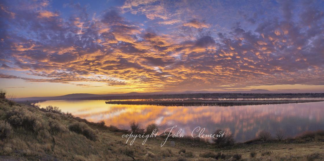 December Twilight Columbia River