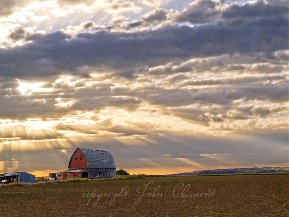 Old Red Sunrise  S. Idaho
