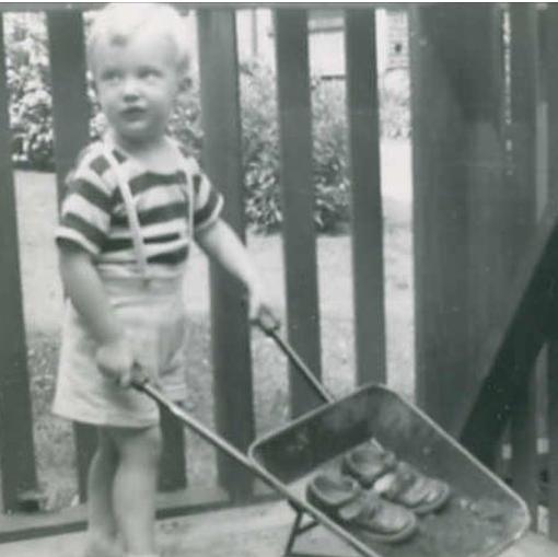 Donald J. Trump as a toddler.