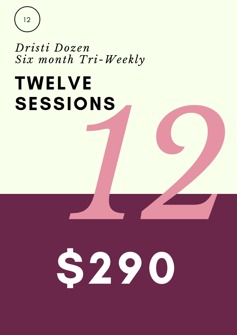 Yoga sessions ~3x a week for six months special client rate