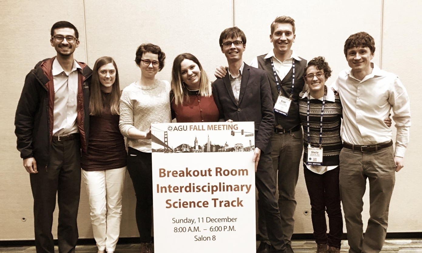 AGU hydrology students organize the student conference ahead of Fall Meeting. Join the subcommittee and create with us!