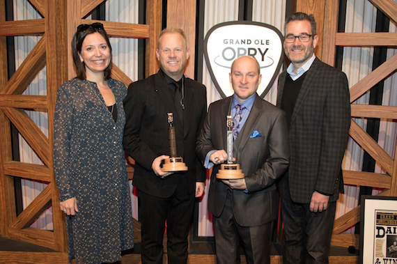 Pictured (L-R): Sally Williams, Jamie Dailey, Darrin Vincent, Steve Buchanan. Photo: Chris Hollo for Grand Ole Opry