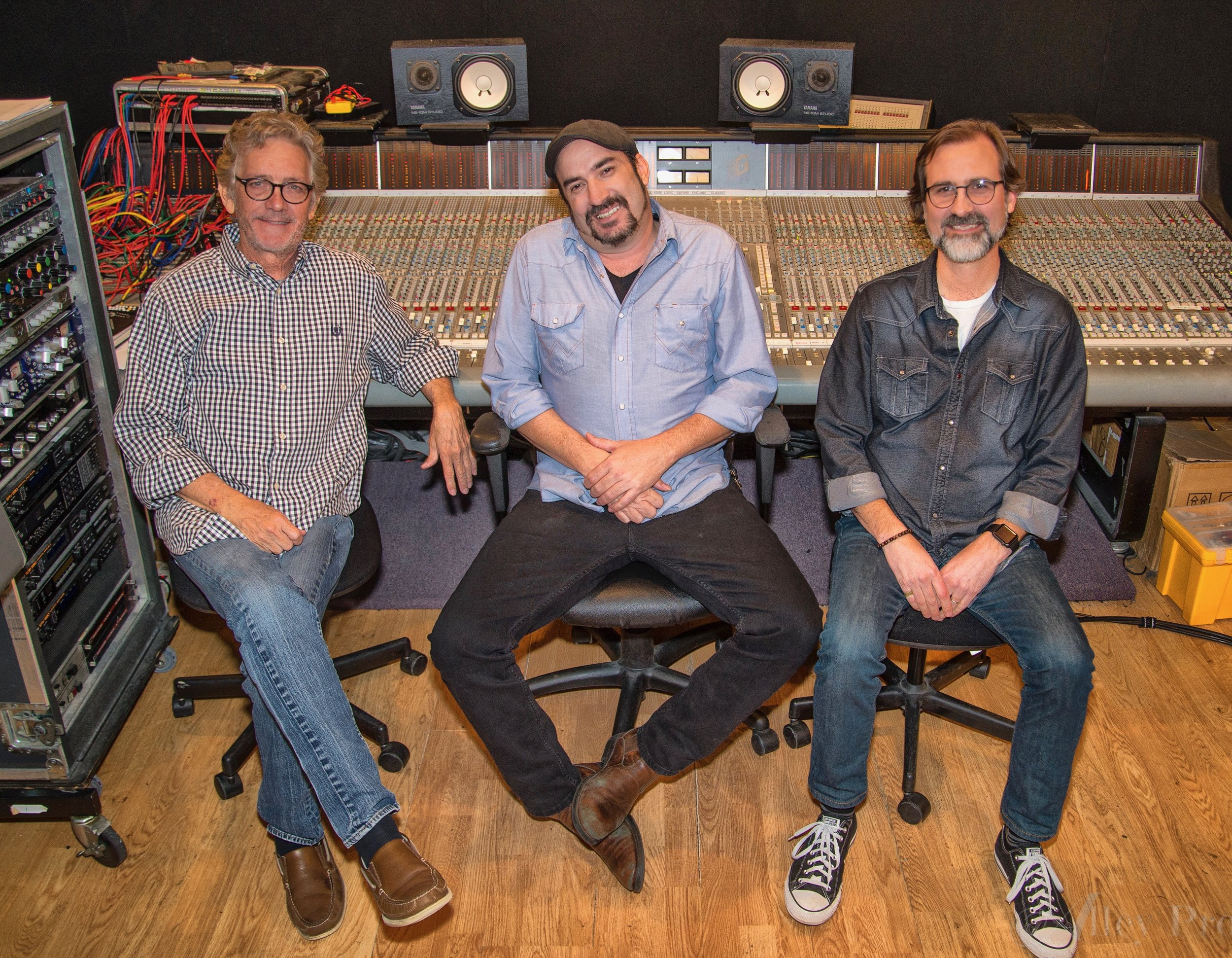 Dreamlined's Keith Stegall, James LeBlanc and producer Jimmy Nutt.