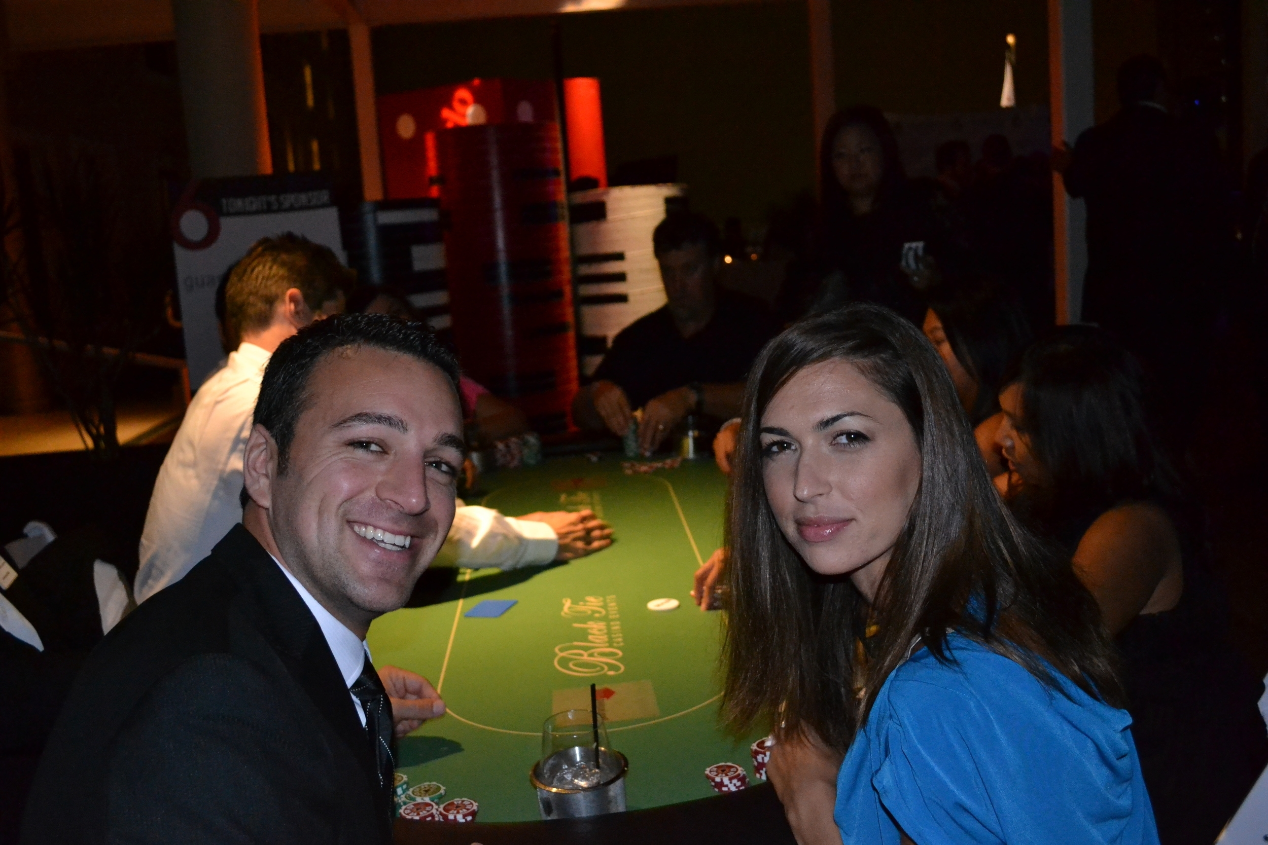 casino party guests