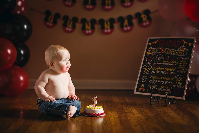 Springfield, MO Cake Smash Birthday Photography