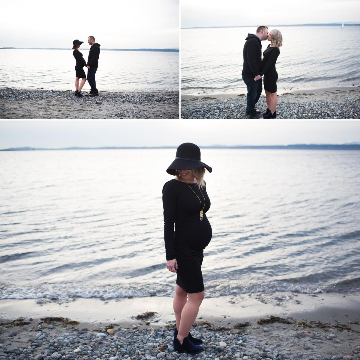elena s blair seattle maternity photographer outdoor beach