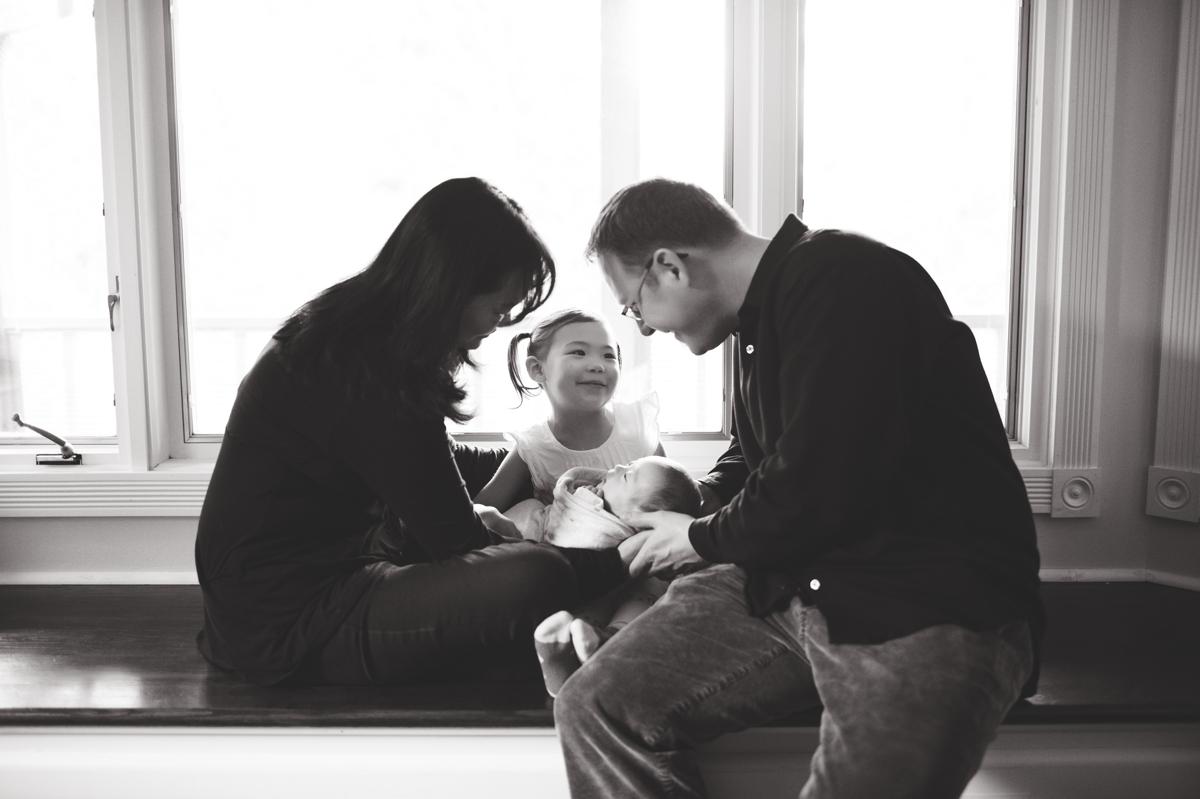 elena s blair seattle newborn family photographer baby at home