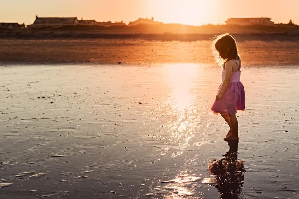 child pose beach sunset photography workshop seattle nancy elizabeth
