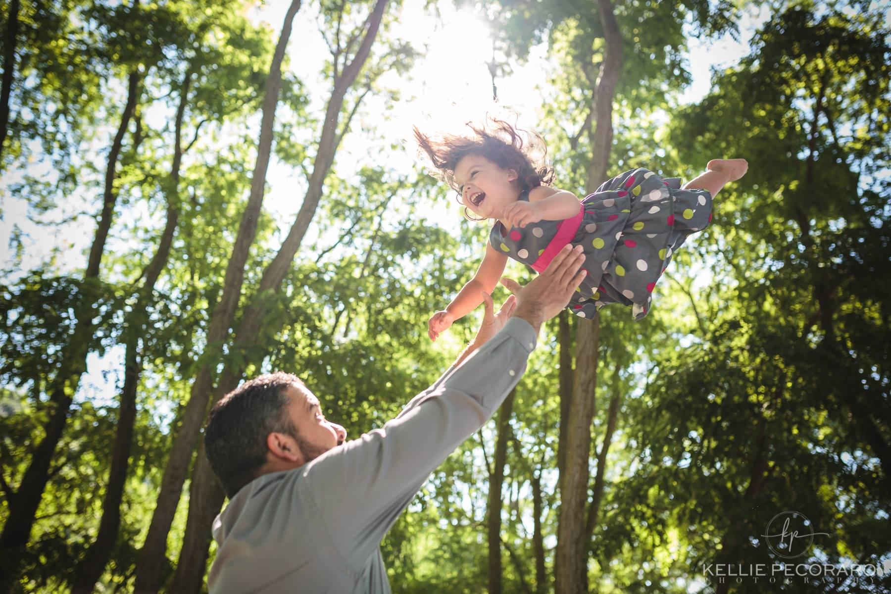 father and daughter toss family pose workshop kellie pecoraro photography