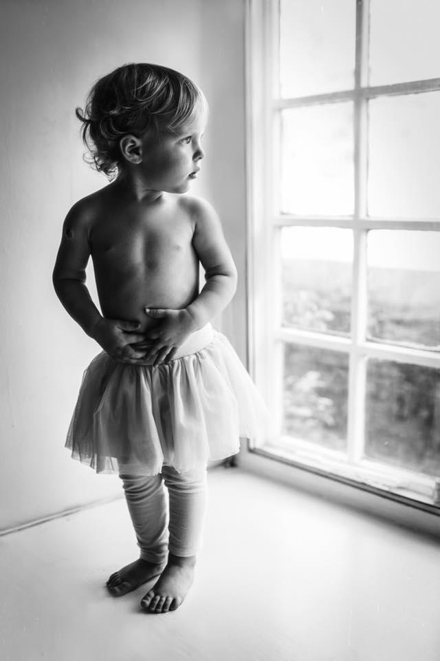 black and white portrait girl tutu pose workshop karen holden photography