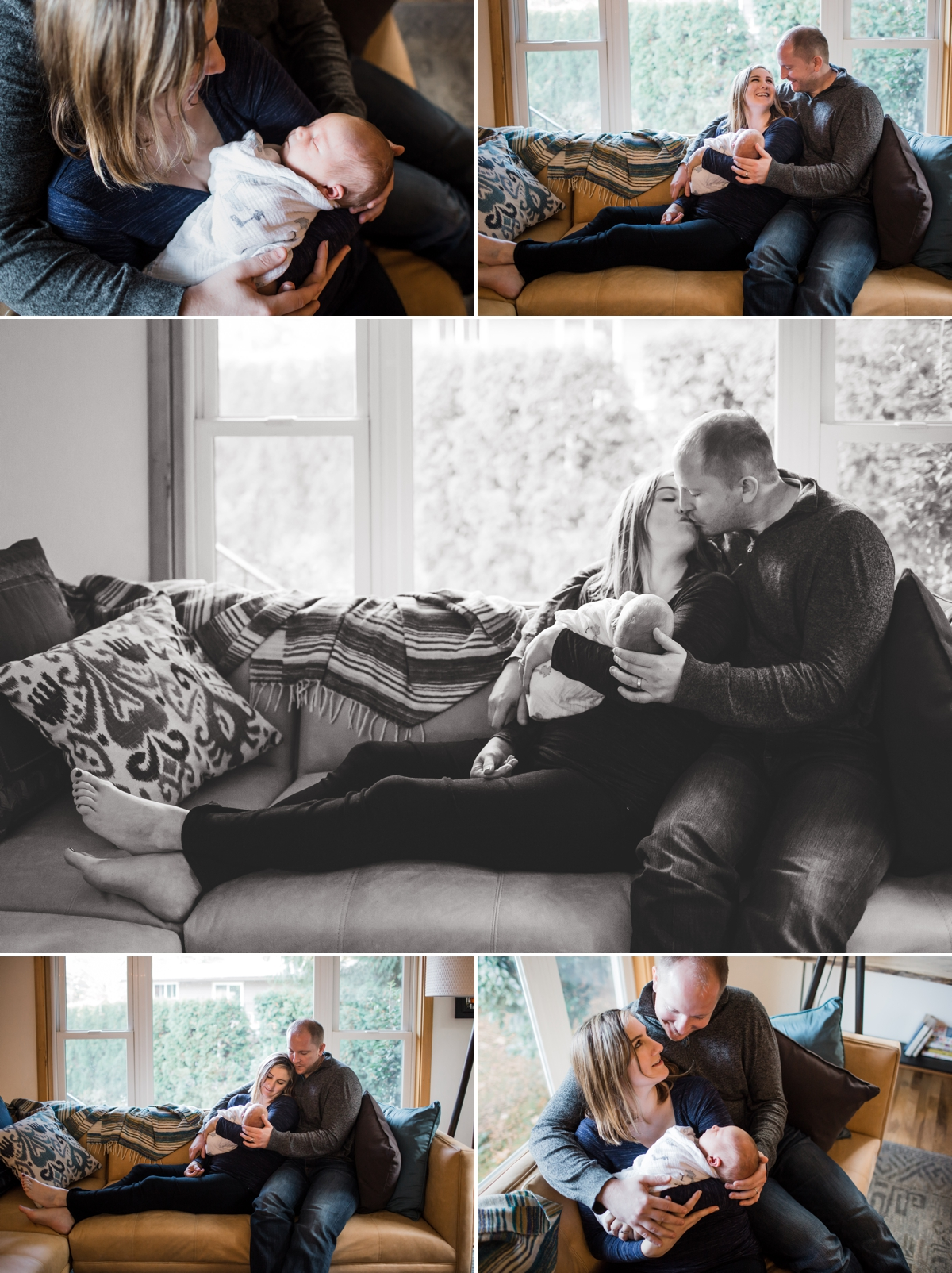 seattle newborn family lifestyle photographer | elena s blair photography | family at home with newborn baby boy oliver