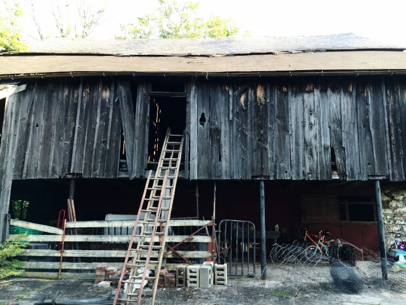 The back of our barn pre-renovation.