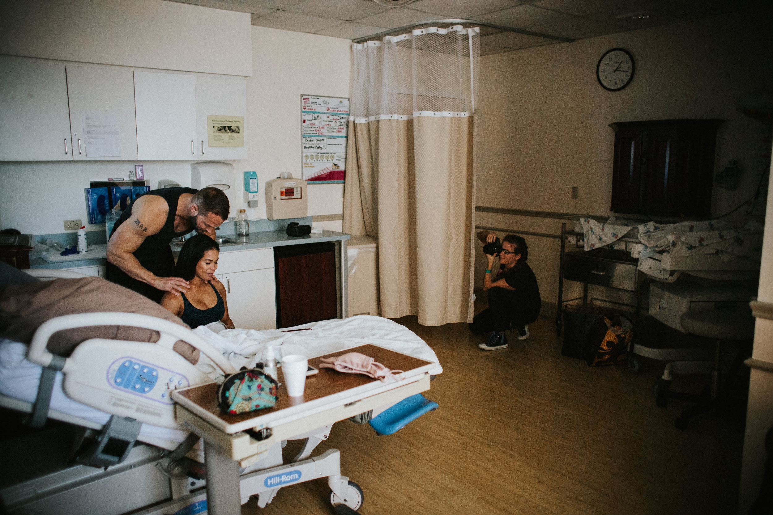 Paulina Splechta capturing a December 2017 birth in a labor and delivery room at Boca Raton Regional Hospital.