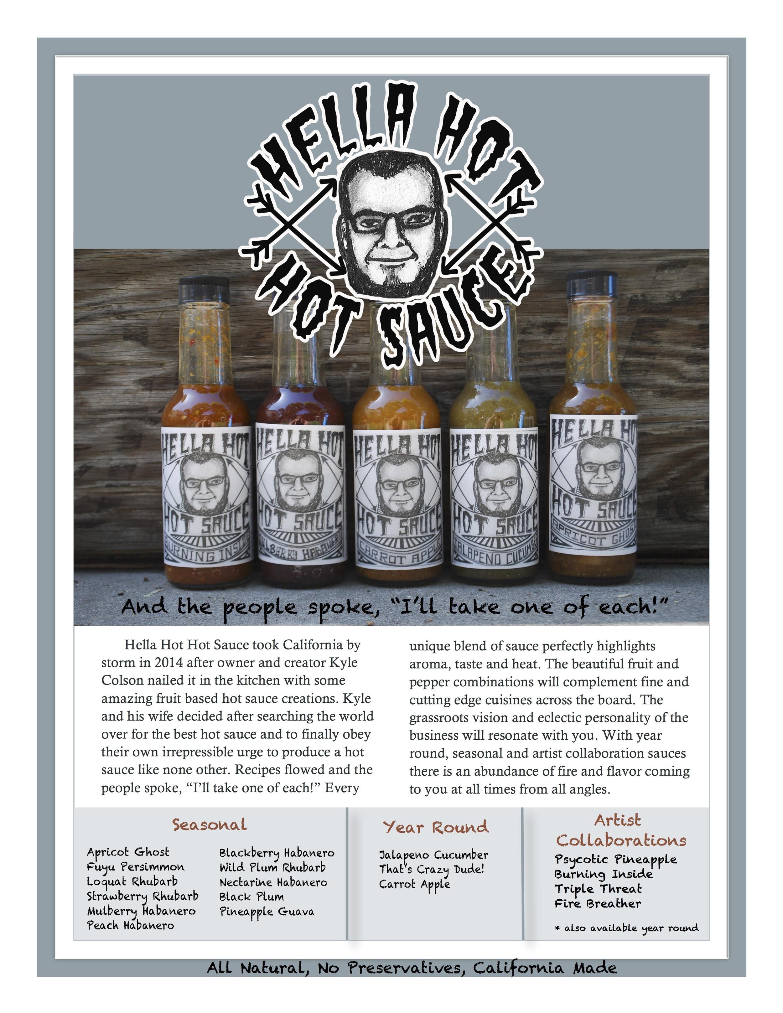 Hella Hot Hot Sauce Marketing Brochure