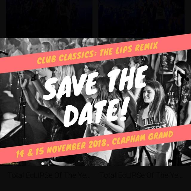 Get ready to make that body groove... Lips are back with our biggest gigs ever, a set of big room bangers like you've never heard them before. Save the date - 14 and 15 November at Clapham Grand! Tickets on sale very soon... #pumpupthejam