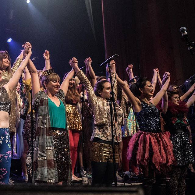 SOLIDARITY. We'll be raising money for #WAST @4refugeewomen at our big #ClubClassics gigs on 14&15 November @thegrandclapham - come join us and DANCE and SING for a worthy cause! Ticket link in bio... #londonchoir #feministchoir #choirconcert #dancemusic #choral #sisters #women #feminist