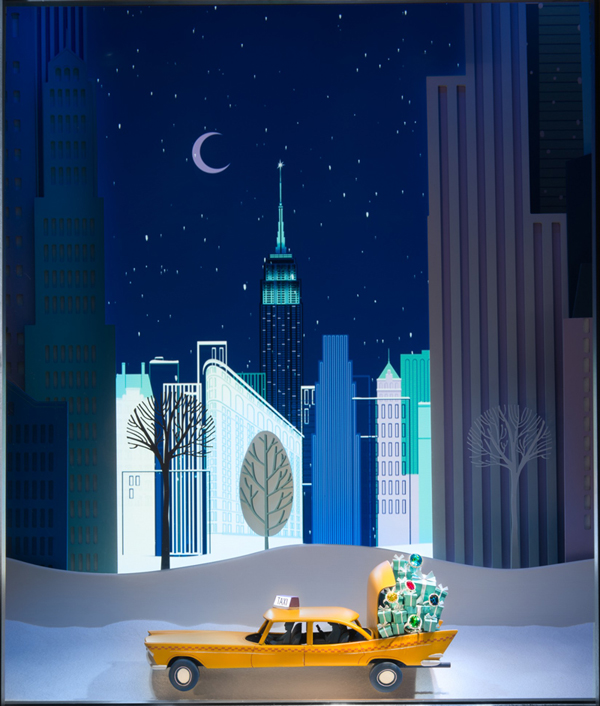 Holiday Window in New York City -Tiffany