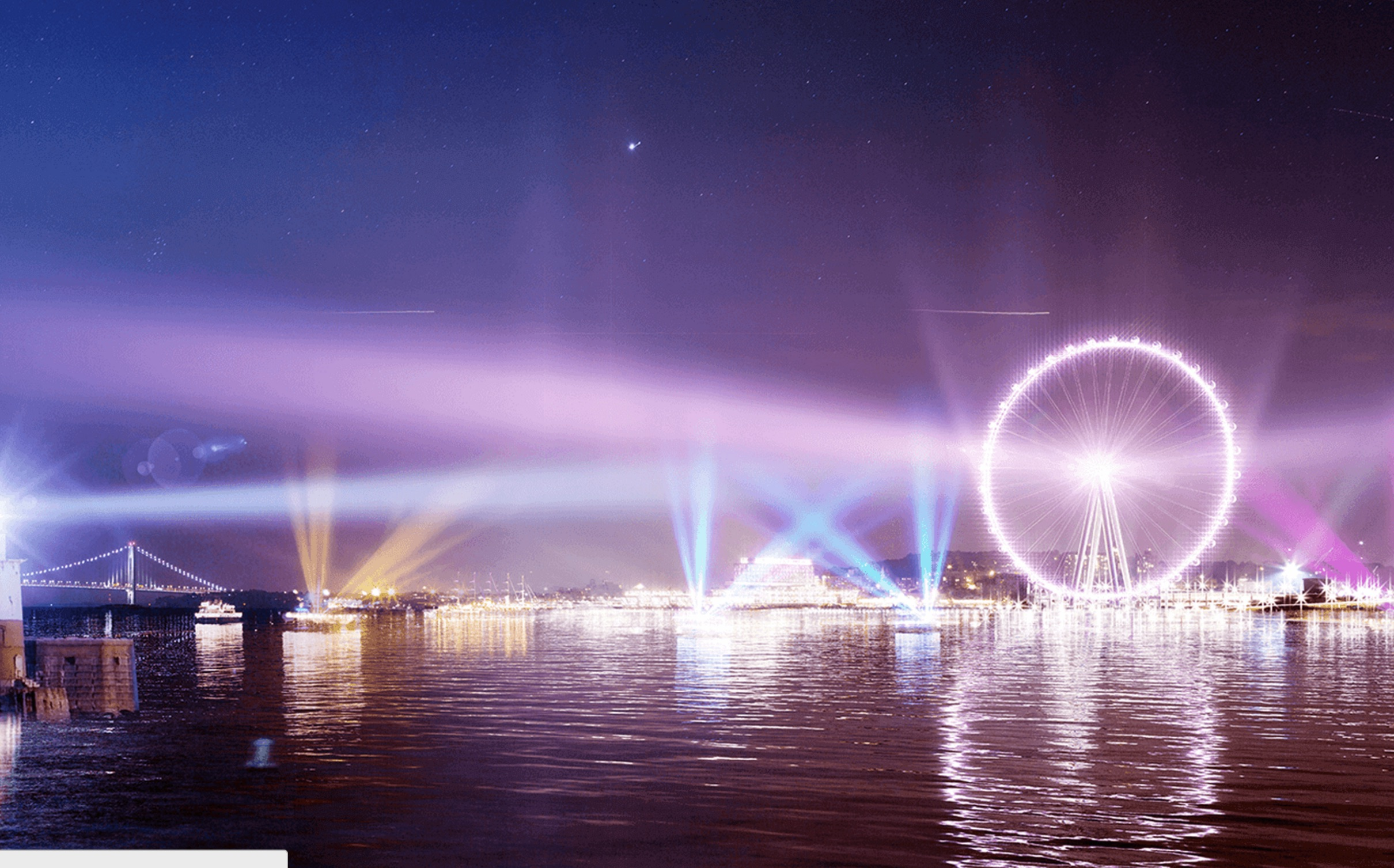 New York Wheel is equipped with $7 million of LED lightning, creating the most vibrant canvas on the New York skyline.