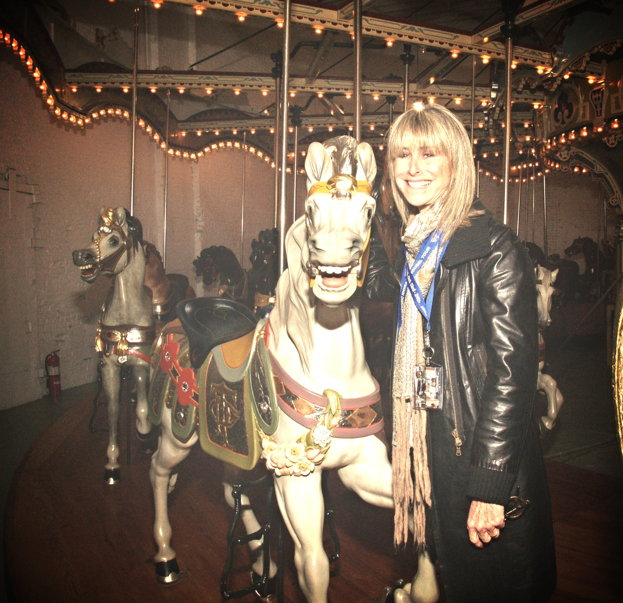 Jane Walentas and probably the first horse selfie ever :-)
