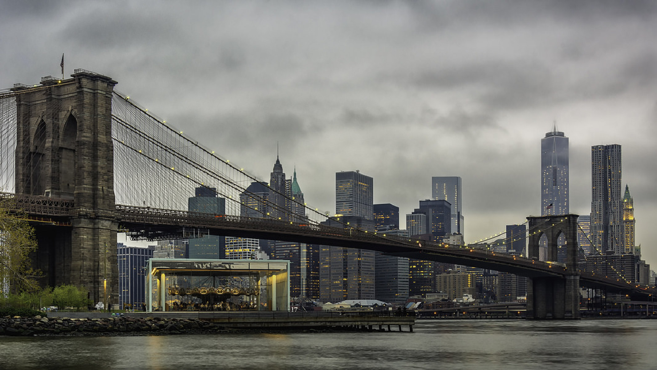 Jane's Carousel is located at the Brooklyn Bridge Park