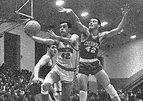 Princeton University x Columbia University – Bill Bradley '65 in action at Dillon Gym during his junior season.