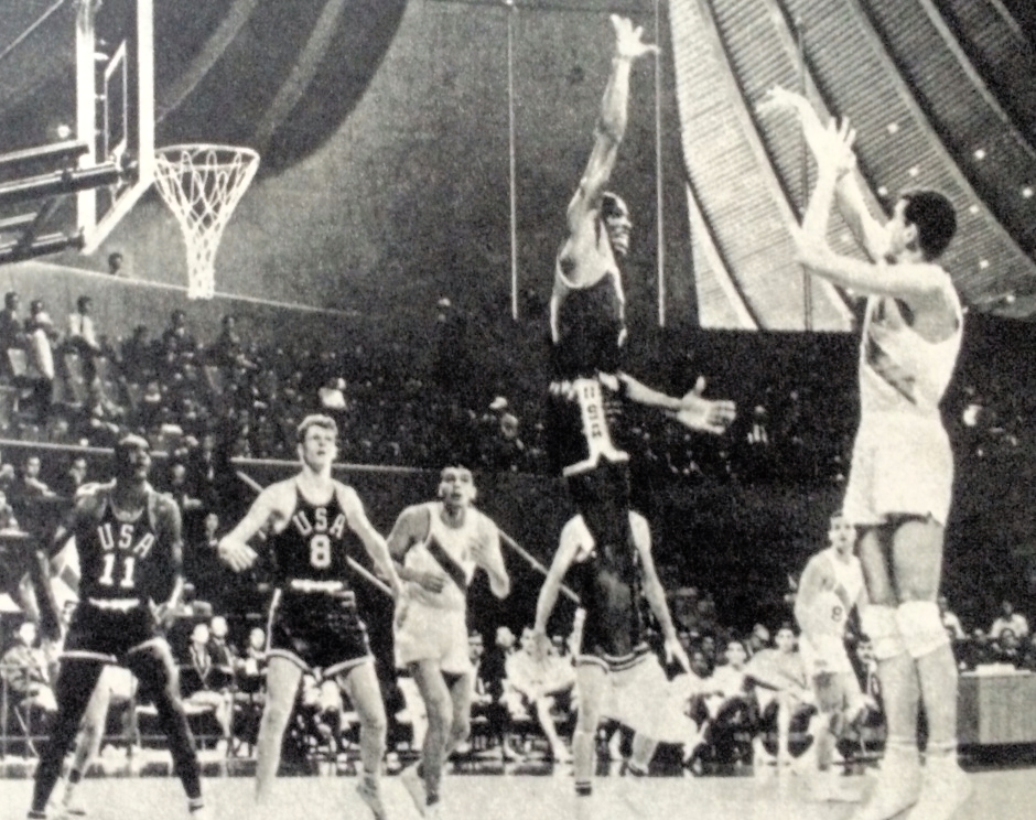 Team USA, captained by Bradley, the team's lone college undergrad and youngest player at age 21, captured the gold medal by beating the Soviet Union 73-59 on October 23, 1964, at Yoyogi National Gymnasium before a packed house of 6,000 spectators, according to news accounts of that time, picking up its ninth win in as many games in the Japanese capital, 47th consecutive victory in Olympic competition, and sixth straight gold in the event.